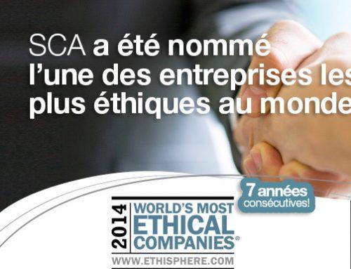 Essity / Tork (anciennement SCA) nommée l'une des sociétés les plus éthiques au monde